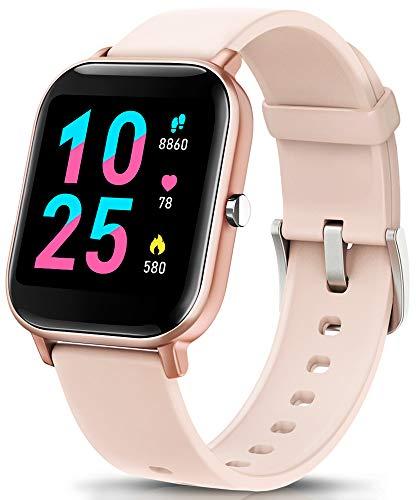 AIMIUVEI Smartwatch, Reloj Inteligente IP67 con Pulsómetro, Presión Arterial, 7 Modos de Deportes, Monitor de Sueño Caloría 1.4 Inch Pantalla Táctil Smartwatch para Mujer y Hombre