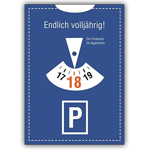 Wenskaarten met korting voor hoeveelheid: Verjaardagskaart in parkeeruur-look 18 Eindelijk volledig jaar! De proeftijd. • Elegante verjaardagskaart met envelop voor vrienden en familie 16 Grußkarten