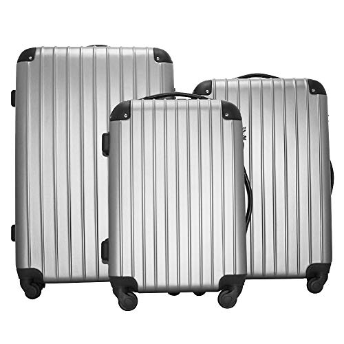 "Fantastic Prices! Hanyoo Set of 3 20"" 24"" 28"" Luggage Set Travel Bag ABS Trolley Spinner Suitc..."