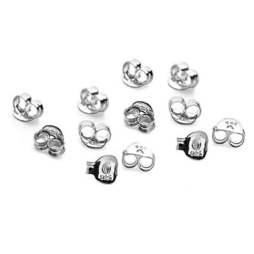 15 x paia (30) in argento Sterling farfalla orecchini Backs Scrolls Push...