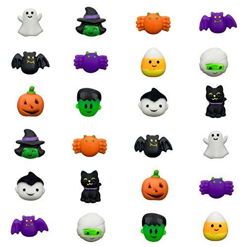 QINGQIU 24 PCS Halloween Mochi Squishy Toys Squishies Halloween Toys for Kids Girls Boys Halloween Party Favors Halloween Treat Bags Gifts