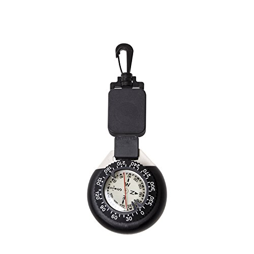 Trident Large Glow in The Dark Retractor Dive Compass with Slate