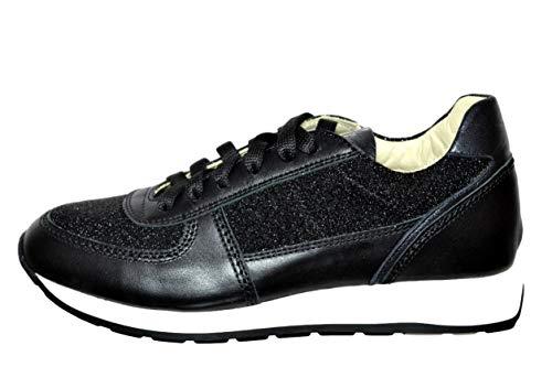 flexa By Fratelli Rouges à lèvres Group Sneakers pour femme, couleur noire, cuir art. 33500 Taille chaussure 38