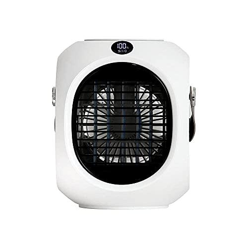 Aire Acondicionado Portátil Ventilador de aire acondicionado portátil, ventilador de escritorio, USB 3 en 1 Ventilador de escritorio de refrigerador de aire USB, con pantalla de temperatura de cabeza