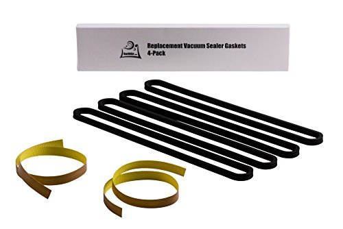 Repair Kit for FoodSaver: Upper/Lower Gasket, Heat Strip Replacement - 4 Foam Gaskets, 2 Strips Fits V2200, V2400, V2800, V3000, V3200 Series Vacuum Sealers Replaces Food Saver T910-00075 by OutOfAir