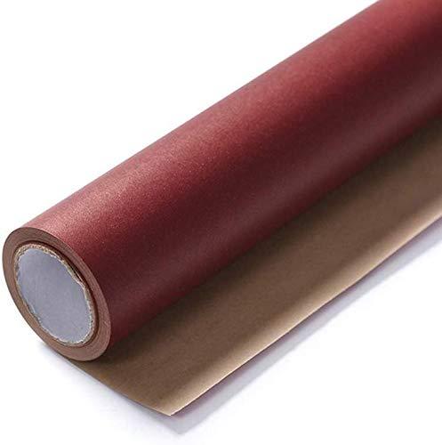 531,4 inch rolpapier, tweekleurig handgemaakt kraftpapier, moederdagtaart-bloemenboek-verpakking, slaapzaal, decoratief behang (kleur: F, maat: 60 * 1350cm)