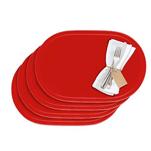 Westmark Tischsets/Platzsets, 4 Stück, 45,5 x 29 cm, Vinyl, Rot, Saleen Edition: Fun