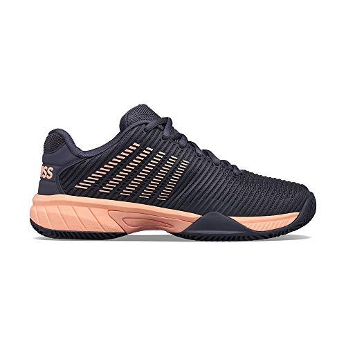 K-Swiss Performance Hypercourt Express HB, Zapatos de Tenis, Schwarz Rosa, 35 EU