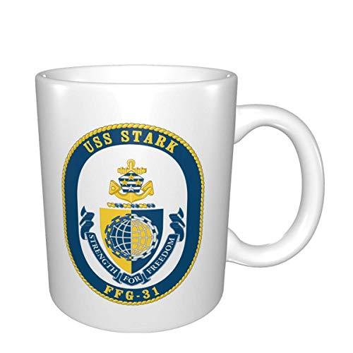 Navy Uss Stark Ffg-31 Mugs Home Office Taza de café adecuada para té, cacao, cereales