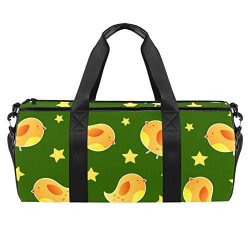 ASDFSD Sporttasche Sporttasche Turnbeutel Medium Reisetasche Fitness Sportgerät Gear Bag Cute Baby Kanarienvogel