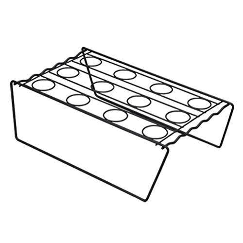 Yorten Ståskrivbord koner gör-det-själv bakning kök display rack bricka glass kylhållare för bröllop fest buffé display köksverktyg för köket badrum vardagsrum (färg: A)