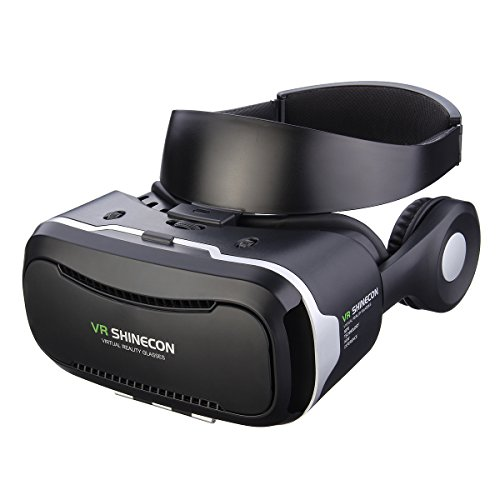 3D VR Brille, Hizek Virtual Reality Headset mit Kopfhörer Google Cardboard...