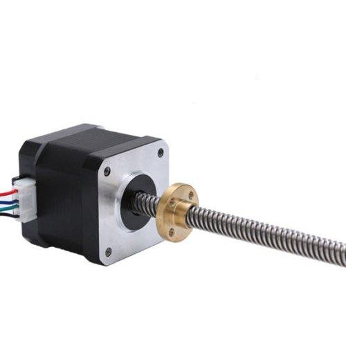 JoyNano Nema 17 Stepper Motor Integrated 310mm T8 Lead Screw Bipolar 1.7A 40N.cm Holding Torque 40mm Body for 3D Printer or CNC Machine