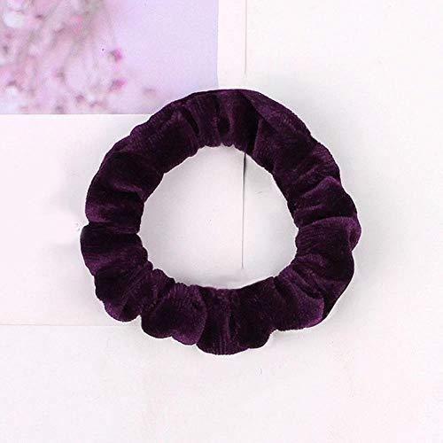 FISISZ Frauen reflektieren leichte Haarbänder Satin einfarbig Seidenhaar Krawatten Scrunchie Pferdeschwanzhalter Haarschmuck Stirnband für Frauen, 27