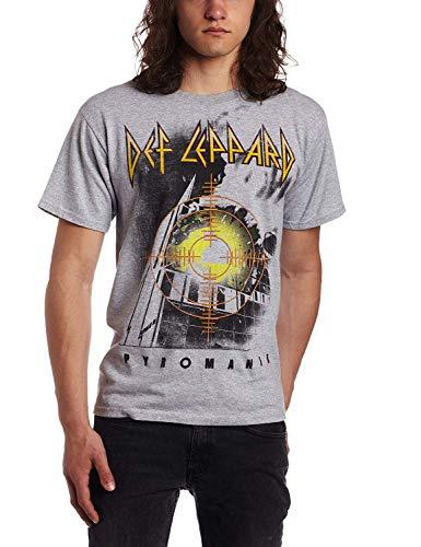 Skyey Camiseta gráfica Def Leppard Target Pyromania Fashion para Hombre