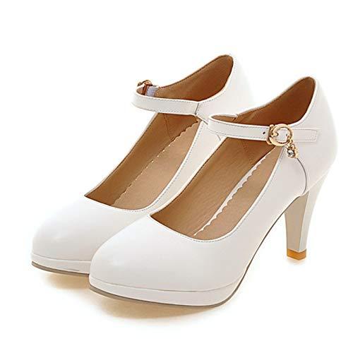 Zapatos elegantes Mary Jane a prueba de golpes con plataforma gruesa y...
