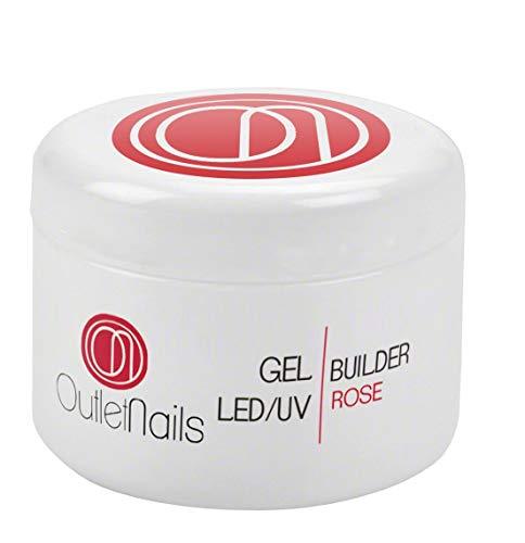 UV Gel Builder Rose 30ml para uñas de gel - UV/LED Constructor Rose de Outlet Nails