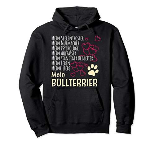 Bekleidung Hunde Besitzer Spruch Geschenk Bullterrier Pullover Hoodie