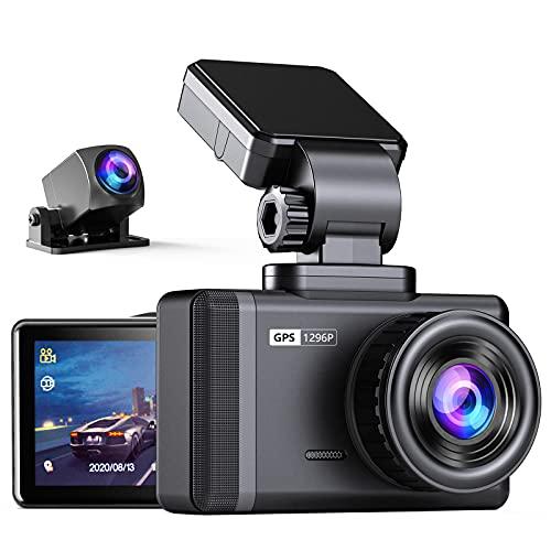 Changer ドライブレコーダー 前後カメラ 超鮮明リアカメラ GPS搭載 1296PHD HDR/WDR搭載 Sonyセンサー 170度広角視野 24時間駐車監視 Gセンサー 高温対応 バック連動 小型 ドラレコ 32GB SDカード付き 日本語取扱説明書 12ヶ月品質保証 (磁気ブラケット)