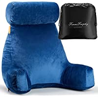TerriTrophy Bed Rest Reading Pillow with Neck Support & Arm Rest
