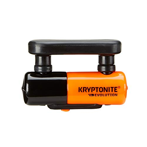 Kryptonite 003212 Evolution Compact Disc Lock Orange 13mm Hardened Max-Performance Steel Shackle Includes 3 Stainless Steel Keys