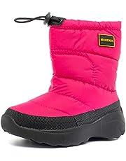 [MORENDL] スノーブーツ キッズ 雪遊び 冬 雪用ブーツ 子供靴 防滑 雪柄 防風 防水 防寒対策 女の子 男の子