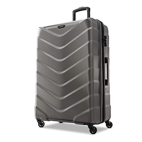 American Tourister Arrow Expandable Hardside Luggage, Charcoal, Checked-Large 28-Inch