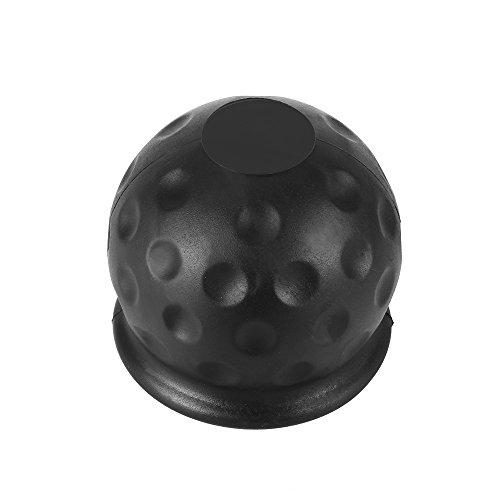 Winbang Anhängerkupplung Ballabdeckung, Kappe Anhängeraufhängung 50mm Anhänger Gummiabdeckung aus schwarzem Gummi (1pc)