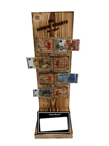 Neutral zum SELBST BESCHRIFTEN - Eiserne Reserve ® Mausefalle Geldgeschenk - Die lustige Geschenkidee - Geld verschenken
