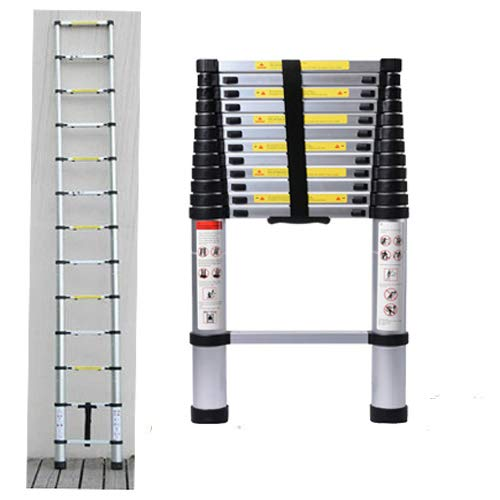 Multi-Purpose Aluminium Telescopic Ladder Extension Foldable Ladder for Home DIY Project Extendable Telescopicing 3.8M/12.46ft