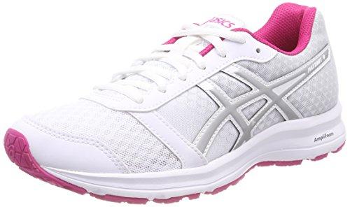 Asics Patriot 9, Zapatillas de Running Mujer, Blanco, 43.5 EU