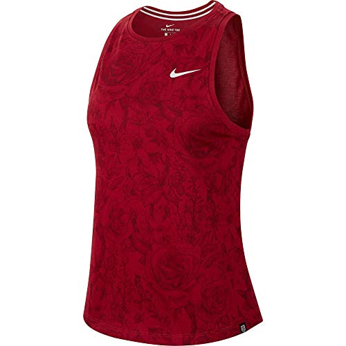 NILCO|#Nike Ent Tank Preseason Maglia Maglia da Dona, Donna, Red Crush, M