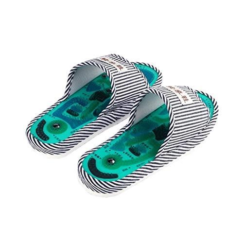 ZSR-haohai Körperpflege Akupunktur Fußmassage Hausschuhe Gesundheit Schuh Fußreflexzonenmassage Magnetic Sandalen Akupunktur Gesunde Füße SorgfaltMassager Magnet Schuhe Massage & Entspannung