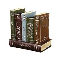 TOPBATHY 装飾的な図書館の本ブックエンド樹脂オフィス用品キャディ鉛筆ペンホルダーオーガナイザーレトロ素朴なカントリーテーブルトップ文具収納