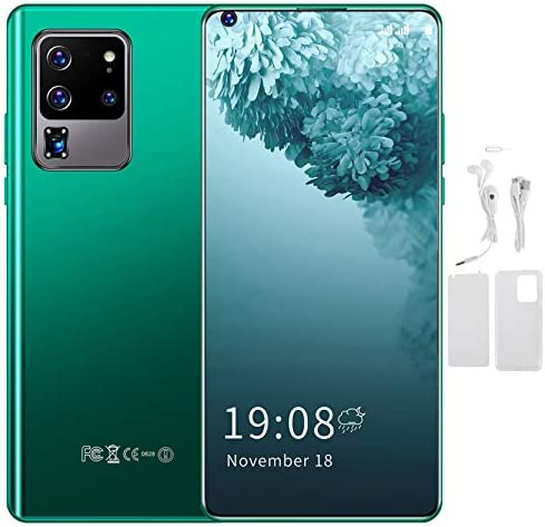2GB+16GB Unlocked Android Smartphone, S30U PRO 6.82in HD Perforated Full Screen Phone Dual Card Dual Standby Cell Phone Face ID Fingerprint Unlock Mobile Phone with WiFi+BT+FM+GPS, 3500mAh(Green) WeeklyReviewer