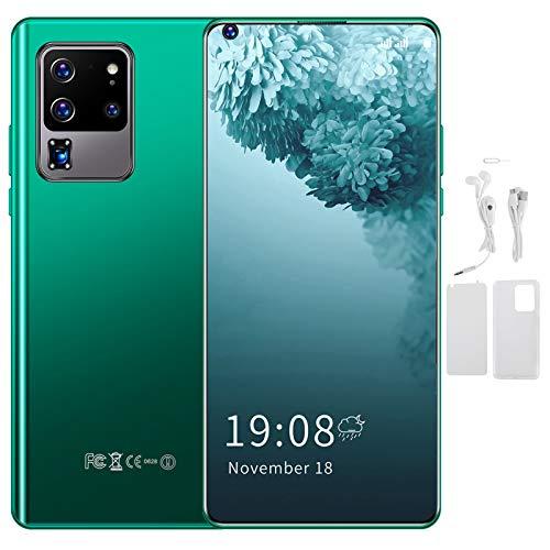 Teléfono, teléfono de desbloqueo de huellas dactilares de expansión 128GB, teléfono inteligente con tarjeta SIM 3G, para regalo Android(green)