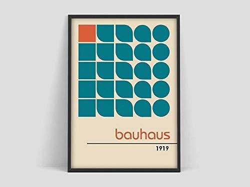 Cartel Bauhaus,100 años de Bauhaus,Grabados de exposición Bauhaus,Carteles de Herbert Bayer,Grabados Bauhaus,Walter Gropius,Decoración sin marco de la familia de arte Bauhaus Z9 50x70cm
