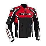 BERING Chaqueta moto DRAXT-R Negro/Blanco/Rojo, Negro/Blanco/Rojo, XXL