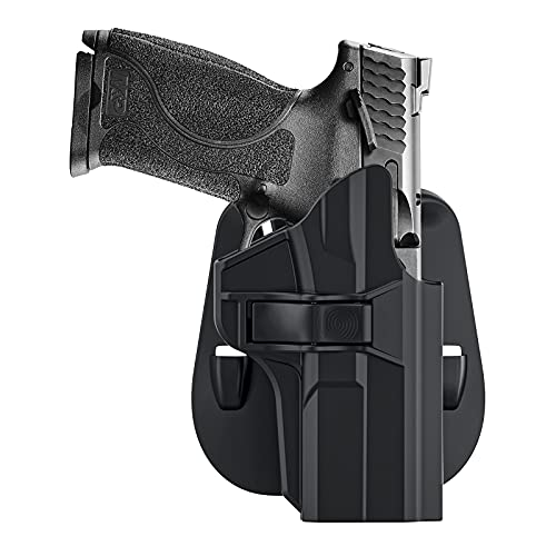 """OWB Paddle Holster for 4.25"""" Barrel S&W M&P 9mm/.40 Full-Size(M2.0), S&W M&P Compact 9mm/40 (Not for Shield), Belt Carry Tactical Gun Holster, Adjustable Cant MP Holster & Quick Draw - Right Handed"""