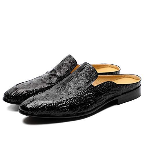 MALPYQ leren tas slippers, mannen schoenen, mode, halve slippers, zomer mannen schoenen flip flop