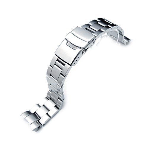 20mm Super Oyster Armbanduhr Armband für Seiko Mittelständische Diver skx023, Diver Verschluss, gebürstet