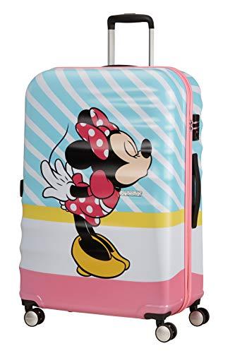 American Tourister Wavebreaker Disney - Spinner L Valigia, 77 cm, 96 L, Multicolore (Minnie Pink Kiss)