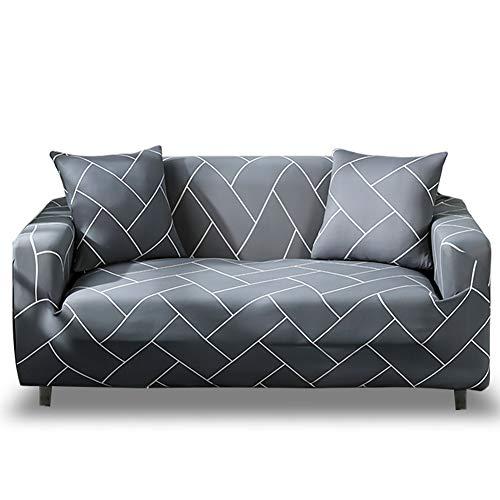 HOTNIU Funda Elástica de Sofá Funda Estampada para sofá Antideslizante Protector Cubierta de Muebles (Dos Plazas, Modelo_qhxt)