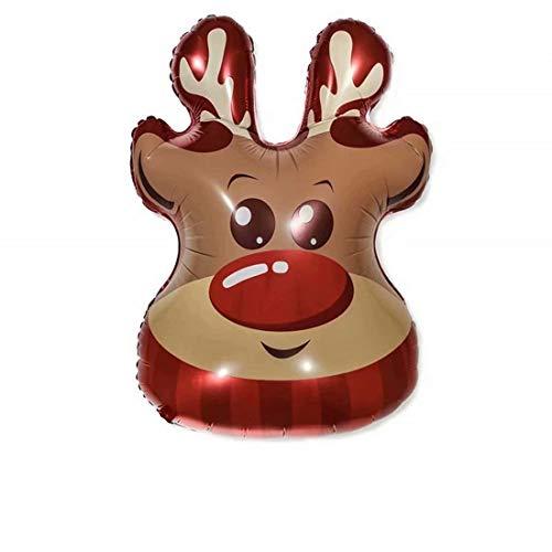 SUNMUCH - Palloncini Natalizi Con Babbo Natale, Renna, Pupazzo Di Neve, Felici Vacanze, Palloncini Giganti, Decorazione Per Feste, 70 X 90 Cm
