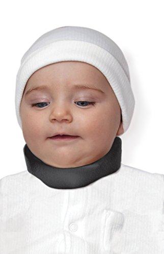 Ergonomic Cervical Collar Neck Support Brace 100% - Medical Device Cotton Liner (X-Small, Black)
