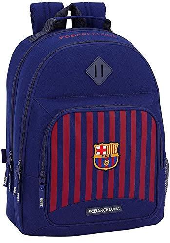 Mochila del FC Barcelona redonda con cremallera doble + estuche de 3 pisos completo + llavero silbato de regalo