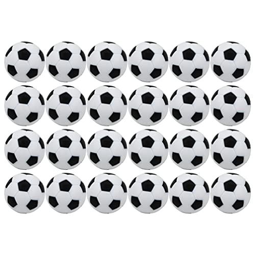 TOYANDONA 24 Piezas de Mesa de Fútbol Futbolines Mini Futbolín Reemplazo para Mesa Juego de Puck Juego de Ajedrez Batalla Diversión Accesorios ( 32Mm )