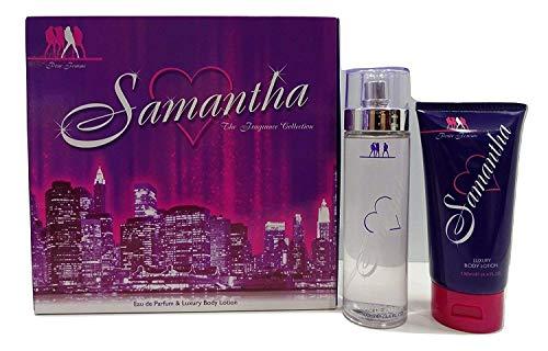 Samantha 2PC Parfum Coffret cadeau pour femme – 100 ml Eau de parfum pour femme 200 ml et Luxe Lotion pour le corps