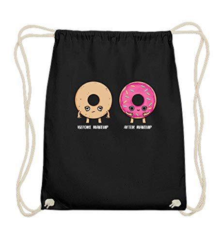 EBENBLATT Lustig Before After Make up Donut Factory Donuts Shirt kaufen Kuchen backen Geschenk - Baumwoll Gymsac