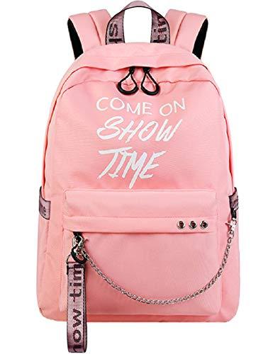 Mygreen Schulrucksack für Mädchen und Jungen, für die Mittelschule, niedliche Büchertasche, Outdoor-Tagesrucksack, Pink-143 (Pink) - MG17143PK